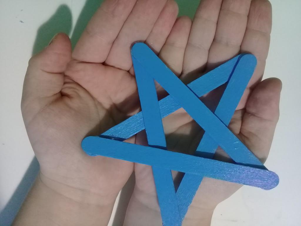 звезда из палочек от мороженого(3)